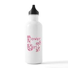 Pretty Floral Flower Girl Water Bottle