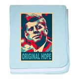 JFK ORIGINAL HOPE Pop Art baby blanket