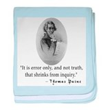 Thomas Paine Truth Quotation baby blanket
