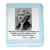 Thomas Jefferson Resistance Q baby blanket
