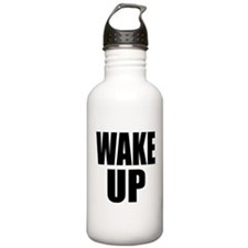 WAKE UP Message Water Bottle