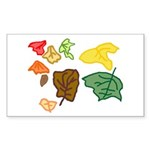 Autumn Leaves Sticker (Rectangle 10 pk)