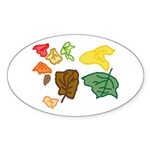 Autumn Leaves Sticker (Oval 10 pk)