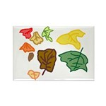 Autumn Leaves Rectangle Magnet (10 pack)