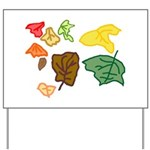 Autumn Leaves Yard Sign