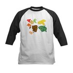 Autumn Leaves Kids Baseball Jersey