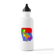 Burma Map Water Bottle