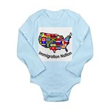 Cute Support immigration Long Sleeve Infant Bodysuit