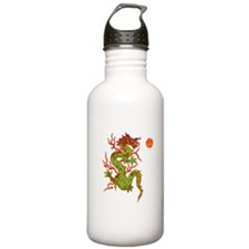 Green & Gold Dragon Sports Water Bottle