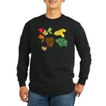 Autumn Leaves Long Sleeve Dark T-Shirt