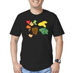 Autumn Leaves Men's Fitted T-Shirt (dark)