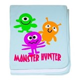 Monster Hunter with MONSTERS baby blanket