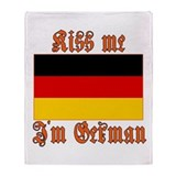 Kiss Me I'm German Throw Blanket