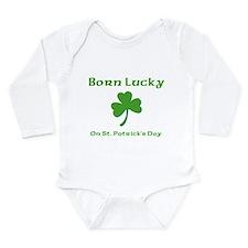 Unique Happy st patrick's day Long Sleeve Infant Bodysuit