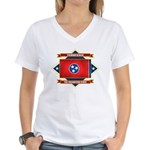 Tennessee Flag Women's V-Neck T-Shirt