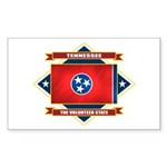 Tennessee Flag Sticker (Rectangle)