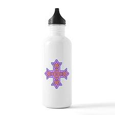 Violet Coptic Cross Sports Water Bottle