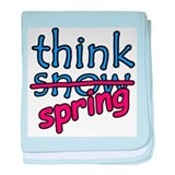 Think Snow Think Spring baby blanket