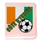World Soccer Ivory Coast baby blanket