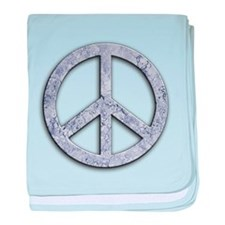 Marble Texture Peace Sign baby blanket