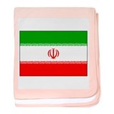 Flag of Iran baby blanket