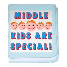 Middle Kids are Special! baby blanket