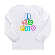 1 Is Fun First Birthday Long Sleeve Infant T-Shirt