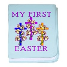 Christian 1st Easter baby blanket