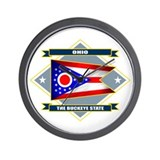 Ohio Flag Wall Clock