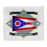 Ohio Diamond Throw Blanket