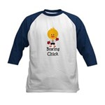 Boxing Chick Kids Baseball Jersey