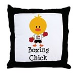 Boxing Chick Throw Pillow