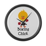 Boxing Chick Large Wall Clock