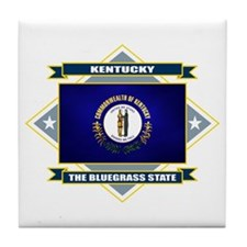 Kentucky Flag Tile Coaster