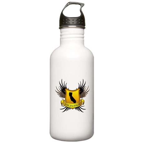 Banner, Heart & Wings - Los A Stainless Water Bott