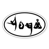 YOGA Oval decal Bumper Stickers