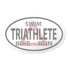 Triathlete Oval decal Decal