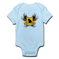 Banner, Heart & Wings - Atlan Infant Bodysuit