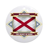 Alabama Flag Ornament (Round)