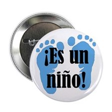 "Es Un Nino! It's a Boy! 2.25"" Button (10 pack"