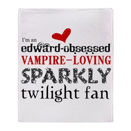 Sparkly Twilight Fan Throw Blanket