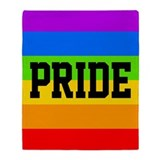 Gay pride Throw Blankets