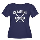 Kayaking Chick Women's Plus Size Scoop Neck Dark T