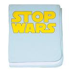 Stop Wars baby blanket