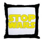 Stop Wars Throw Pillow