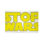 Stop Wars Rectangle Magnet