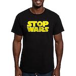 Stop Wars Men's Fitted T-Shirt (dark)
