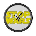 Stop Wars Large Wall Clock