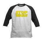 Stop Wars Kids Baseball Jersey