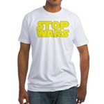 Stop Wars Fitted T-Shirt